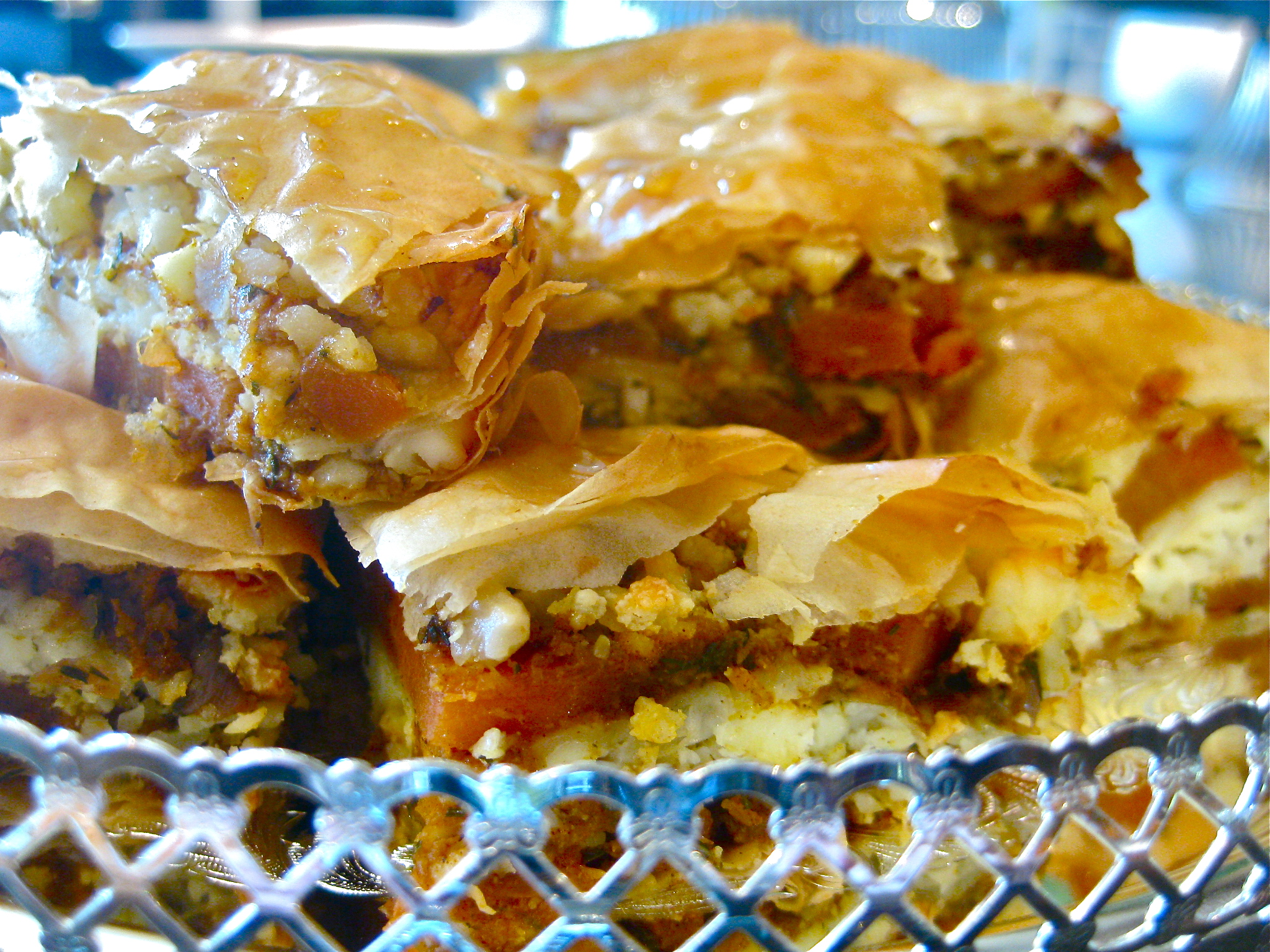 Carrot, Feta and Almond Baklava | Feeding Time Blog