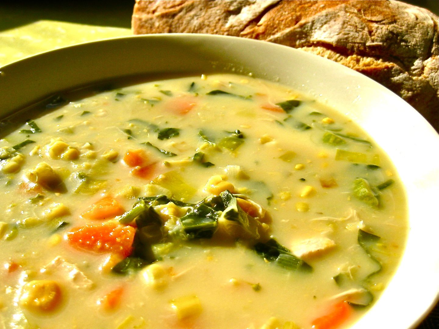 Healthy and Creamy Chicken and VegetableSoup